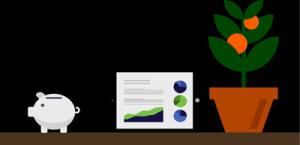 Image of iPad and plant on shelf